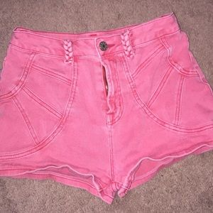BDG Shorts - Faded vintage red high waisted shorts